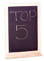 Top Five Sign