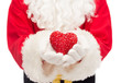 Obrazy na płótnie, fototapety, zdjęcia, fotoobrazy drukowane : close up of santa claus with heart shape