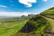 canvas print picture - Open landscape on the Isle of Skye in Scotland