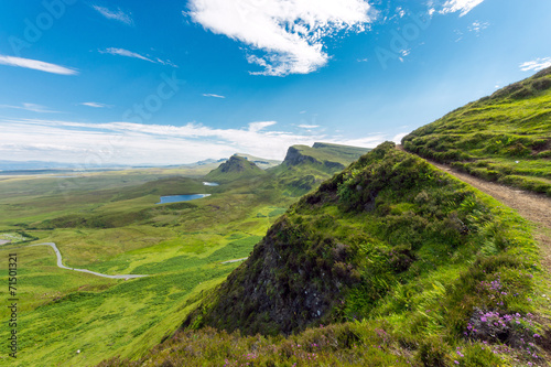 canvas print picture Open landscape on the Isle of Skye in Scotland