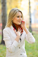 Young girl talking on the phone