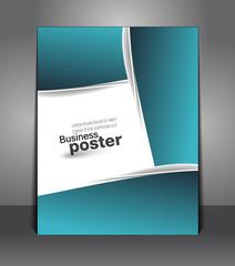 Brochure presentation of business poster