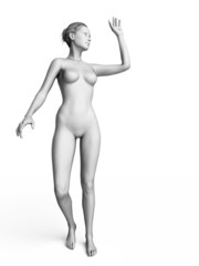 3d rendered illustration of a white female