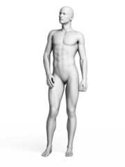 3d rendered illustration of a white man