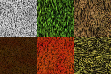 Set of fur seamless generated textures