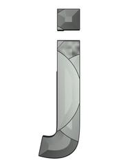 gri siyah renkli j harfi tasarımı