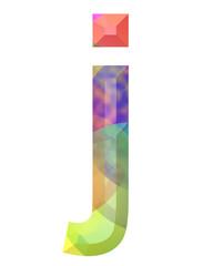 renkli j harfi