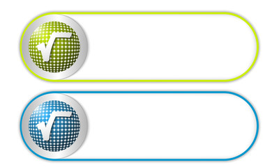 two vector buttons with grid and radix
