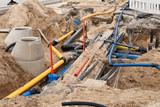Bauarbeiten an den Versorgungsleitungen