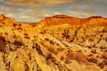 desert of Tabernas, in Spain
