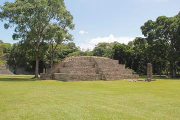 Copan, Honduras: Pyramid at the ancient Mayan archaelogical site