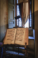 Italy, Rome, St. Angel Castel, original musical score