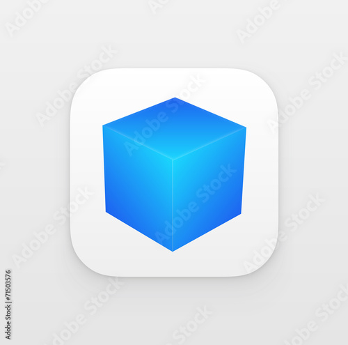 App icon with 3d Cube. Vector - 71503576
