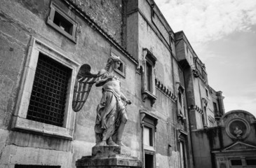 Italy, Rome, St. Angel Castel, statue