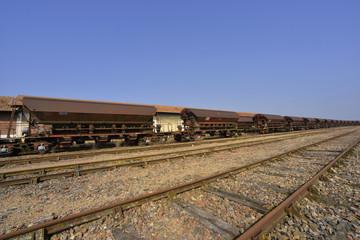 Train de marchandises sur chemin de fer