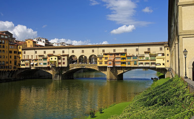 VIew of beautiful bridge Ponte Vecchio - Florence