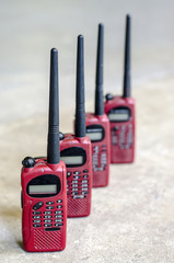 ed color used walky talky