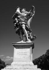 Italy, Rome, Vittorio Bridge, roman statue