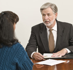 Business Professional Advises Client