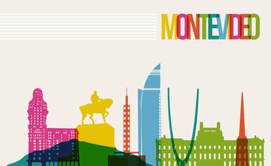 Travel Montevideo destination landmarks skyline background