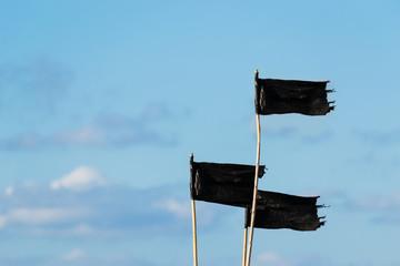 plastic flags