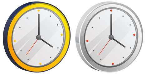 Round Clock Icon - Illustration