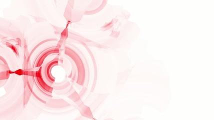 Красные 3D круги на белом фоне