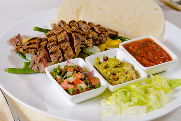 Steak Fajitas on Plate