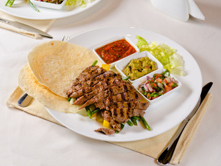 Grilled Steak Fajitas on Plate