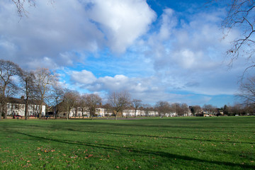 West Ham park of London in autumn