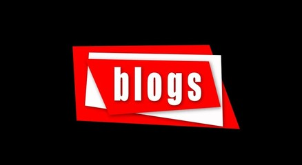 Beautiful Blogs Title Intro with White and Red Rectangles