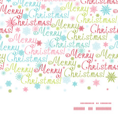 Vector merry christmas text horizontal frame seamless pattern