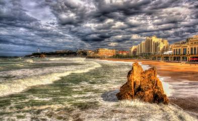 Grande Plage, a beach in Biarritz, France