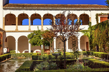 Generallife Alhambra White Palace Orange Tree Garden Granada And