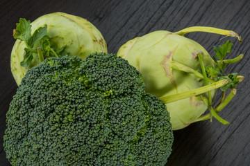 Kohlrabi and Broccoli