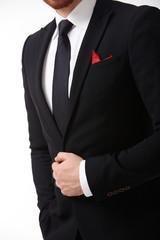 man in suit close-up
