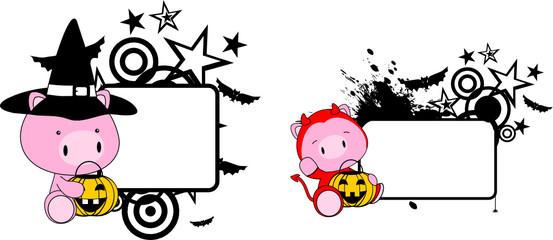 halloween costume pig baby cartoon