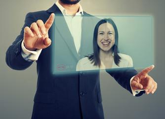 communication through video chat