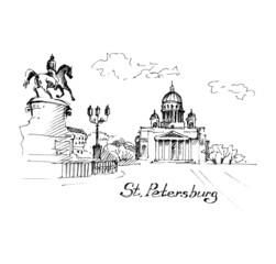 Saint-Petersburg - hand drawn illustration