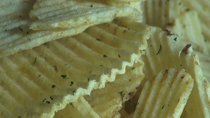 Ridged Potato Chips, Ruffles, Snack Foods