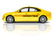 Side View Studio Shot Of Yellow Sedan Taxi Car - 71514322