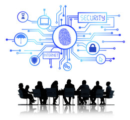People in Meeting with Internet Security
