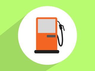 Gas station pump ,Flat design style