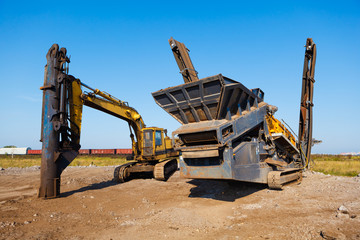 heavy building machines