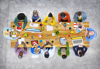 Designers Working in the Office Photo Illustration