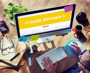 Web Designer Working on a New Project