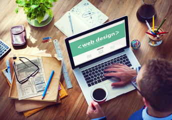 Designer Working on the Laptop