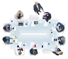 Group of Diverse Business People in a Meeting