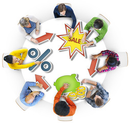 Group of People and Sale Concepts