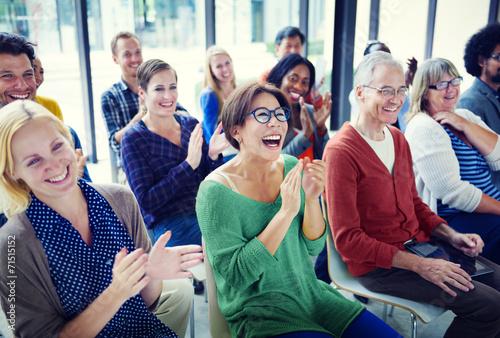 Leinwanddruck Bild Group of People in Seminar